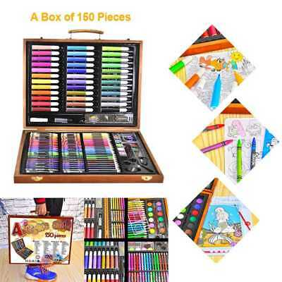 1X(150pcs Painting Tools Big Box Brush Watercolor Pencil Watercolor Child S A5G6