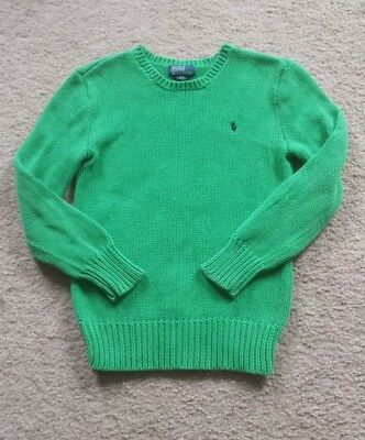 Youth Boys Polo By Ralph Lauren Green Sweater  Sz S (8)  ** Nice **