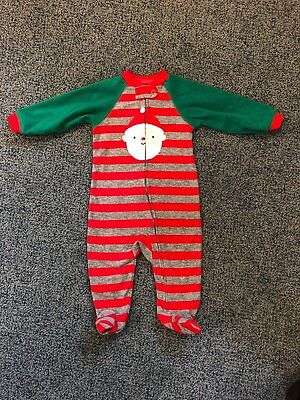 Child Of Mine By Carter's Christmas/Santa Fleece Pajamas Size 6-9 Months