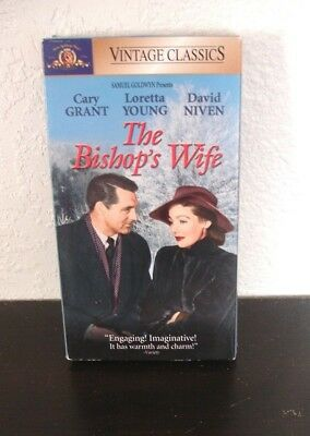 The Bishops Wife (VHS, 2000) Cary Grant, Loretta Young, David Niven