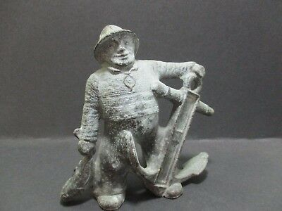 Hollow Cast Figure Of A Jolly Fisherman With Fish And Anchor