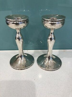 A Pair Of Silver Hallmarked Candlestick'S * Makers R.p.
