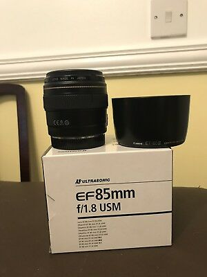 Canon 85mm f/1.8 EF USM Lens - Boxed
