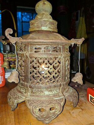 Antique Japanese Cast Iron Garden Lantern