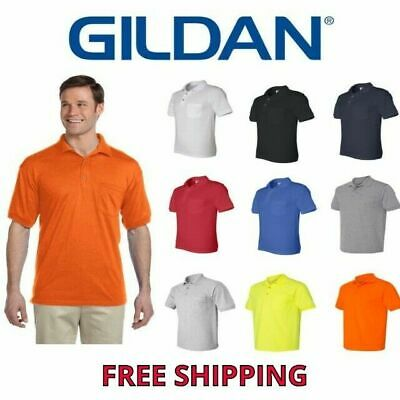 Gildan Men's Dryblend Polo With Pocket Sport Shirt Jersey 8900 Golf Sizes S-5X