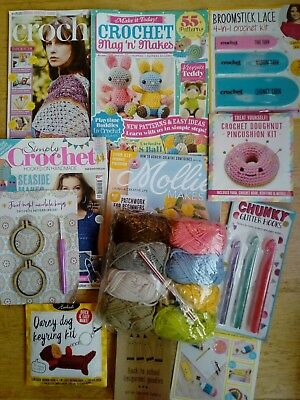 Crochet patterns and kits including accessories