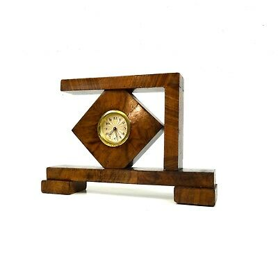 Rare Original German Avantgarde Cubist Bauhaus Table Clock Art Deco 1930