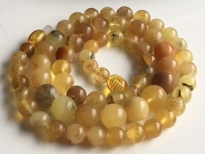 Natural Antique Baltic Vintage Amber OLD BUTTERSCOTCH  BEADS Necklace 17 gr!