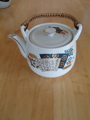 Vintage Made in Japan tea pot with bamboo handle Very nice!