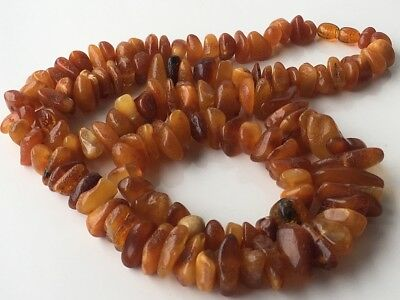 Natural Antique Baltic Vintage Amber OLD BUTTERSCOTCH BEADS and bracelet