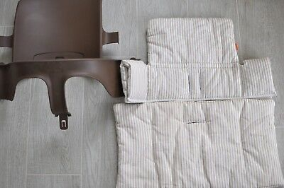 Stokke Tripp Trapp Set Walnut and Cushion Cover Set Beige Never Used