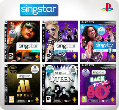 Singstar Singstore Vol 1-3 Pop Edition/Dance/Back to the 80's PS3 *Multi list*
