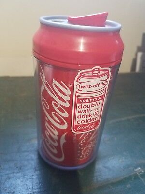 Coca Cola Travel Cup. Spill Proof. Double Wall. Twist off lid. NEW