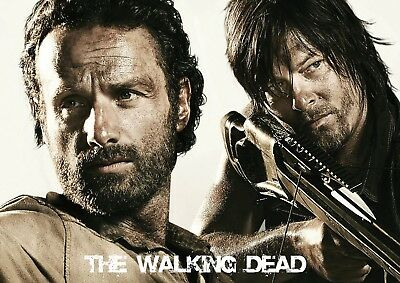 The Walking Dead Rick And Daryl Glossy Wall Art Poster Print (A1 - A5 Sizes)
