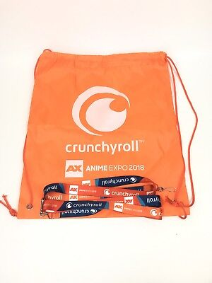 2018 Anime Expo - 2 Lanyard & Crunchyroll Bag New Cosplay Convention Exclusive