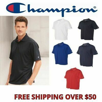 53f822e5d96f Champion Men s Ultimate Double Dry® Performance Polo Sport Shirt Wicking  S-2XL