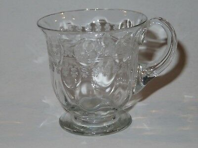Pall Mall Vintage Custard Cup  Glass Etched Pattern Polished Pontil Vgc