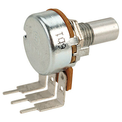 16mm PC MOUNT Alpha Potentiometer SOLID SHAFT: 1M LOG (A) AUDIO 6.35MM SHAFT