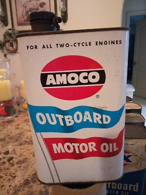 Vintage Amoco Outboard Motor Oil Can!!!!!
