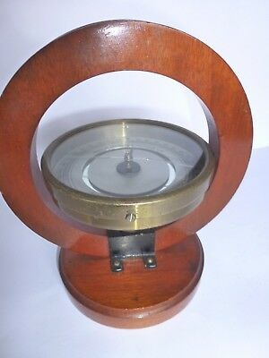 Philip Harris and Co (1913) Ltd. Tangent Galvanometer. Mahogany/lacquered brass.