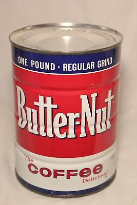 Vintage Butternut Coffee Can Tin1 Lb Full Unopened