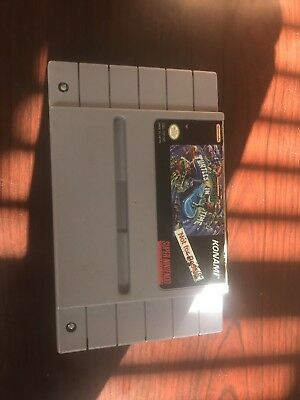 TMNT IV Turtles In Time NFR SNES Demo Only Not For Resale Cart Employee Kiosk