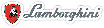 "Lamborghini sticker decal 8"" x 2"""
