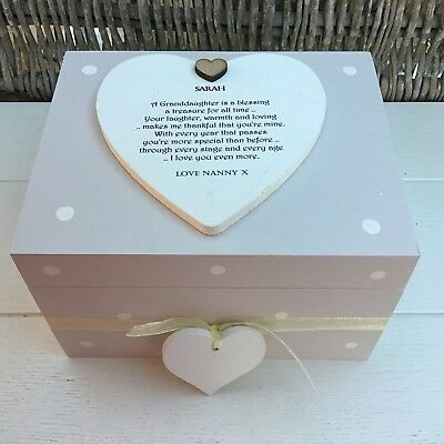 Shabby Personalised Chic Special Daughter Gift Keepsake Box