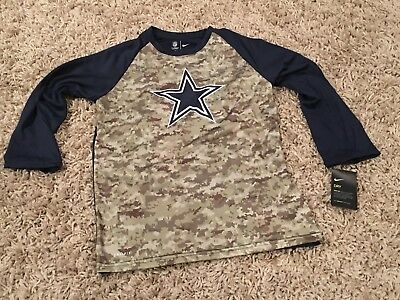 NWT NFL Dallas Cowboys NIKE Youth Salute to Service Raglan Tee - XL 18 20 dfd9ea7ee