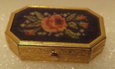 VINTAGE AVON OCCUR! gold-tone Tin empty