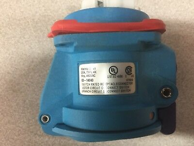 New No Box Meltric Dsn1 20Amp 480Vac Receptacle 63-14043