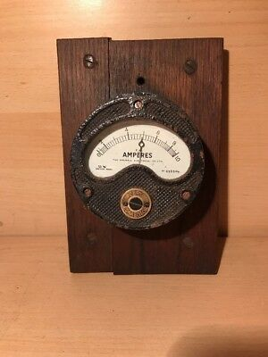 Vintage Ammeter 'Zero Corrector' On Wooden Base - The Walsall Electrical Co Ltd