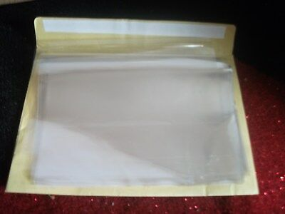 "Soap Wrapping, 100 clear plastic sheets. 7 1/2"" w by 10"" l."