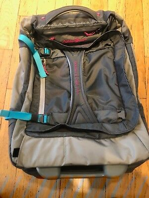 Eddie Bauer EXPEDITION 21 Drop Bottom Rolling Duffel - Medium - Smoke Gray 16ee411acb