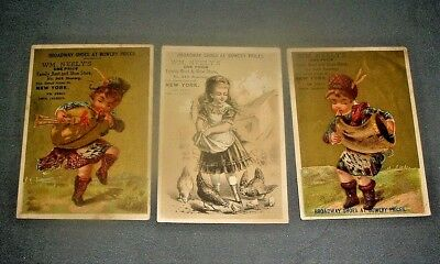 Three vintage Vict. trade cards for Wm. Neely's Family Boot and Shoe Store, NYC