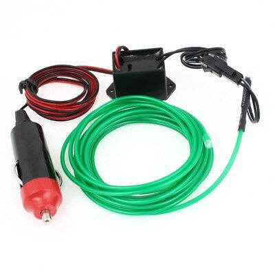 1X(Auto 9.8Ft Green Decorative EL Wire Neon Glow Light w 1M Vehicle Charger M2Q2