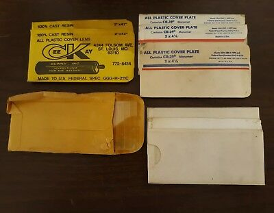 """Welders Clear Plastic Cover Plate 2""""×4.25"""" lot of 11"""