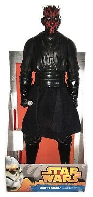 "2014 Star Wars DARTH MAUL 18"" Figure Double Bladed Light Saber Jakks Pacific Inc"