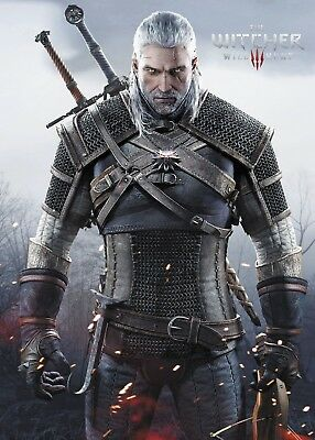 The Witcher 3 Wild Hunt - Geralt Poster Print - Wall Art - Buy 2 Get 1 Free