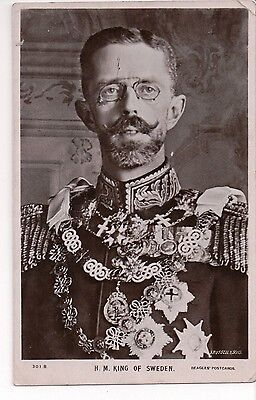 Vintage Postcard King Gustav V of Sweden