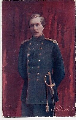 Vintage Postcard King Albert I of Belgium Color Tinted