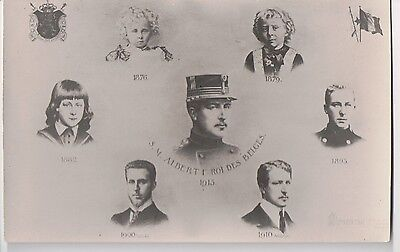 Vintage Postcard King Albert I of Belgium at Different Ages