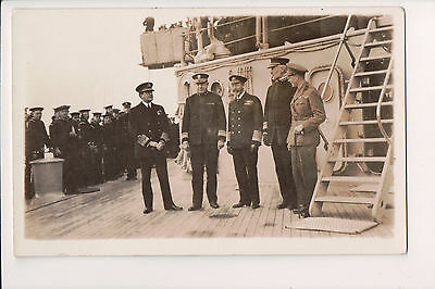 Vintage Postcard King George V of the United Kingdom & Naval Commanders