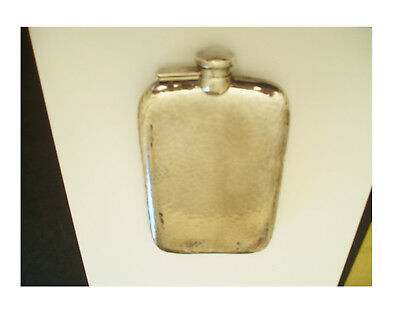 Vintage Gentleman's Solid Sterling Silver Flask 3/8 Pt Volume