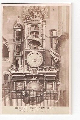 Vintage CDV Strasbourg astronomical clock strasbourg Cathedral Guillon Photo