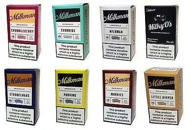 The Milkman Premium E-Liquid Juice *TOP SELLING 4 FLAVOURS ** 3X10 FOR 7.99 ONLY