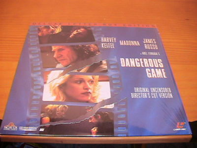 DANGEROUS GAME Madonna Harvey Keitel LaserDisc Near NEW - mmoetwil@hotmail.com
