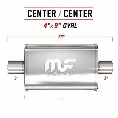 """3"""" 4 x 9 Oval 14 inch Stainless Steel MagnaFlow Universal Exhaust - 11219"""