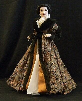 Franklin Mint Heirloom Dolls, Gone With The Wind , Scarlett in Paisley Robe