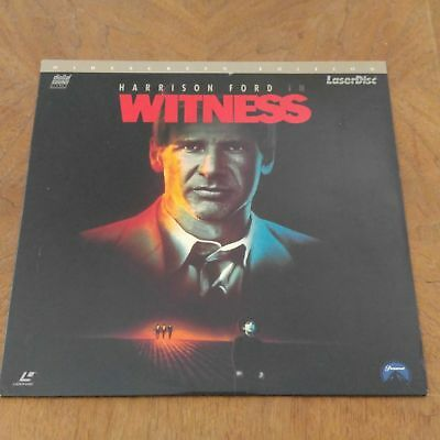 WITNESS Harrison Ford WidescreenEdition LaserDisc NearNEW mmoetwil@hotmail.com